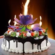 happy birthday candle birthday candle 3pcs blue lotus rotating play happy birthday