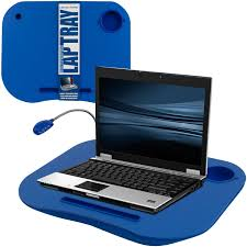 laptop buddy laptop desk and cup holder blue 72 698006 amazon