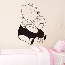 compare prices on pig wall decals online shopping buy low price cartoon cute winne bear wall stickers pink pig wall decals for kids room decor removable vinyl