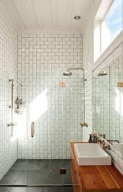 Subway Tiles In  Contemporary Bathroom Design Ideas Rilane - Modern subway tile bathroom designs