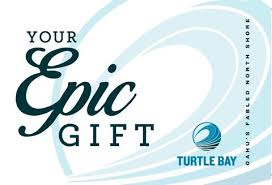 gift card vendors turtle bay s epic gift card turtle bay epic gift cards