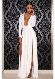 fancy maxi dresses v and side split maxi dress shop women s clothing
