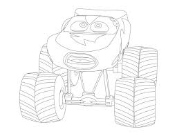 cars lightning mcqueen monster truck coloring page funs bebo pandco