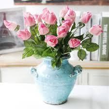 Flower Decoration For Home Online Get Cheap Silk Roses Arrangements Aliexpress Com Alibaba
