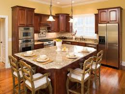 kitchen cabinet island design ideas small kitchen island design idea with dining table and wood color