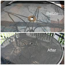 outdoor metal table makeover