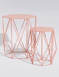 Marks And Spencer Console Table Wire Nest Coral Set Of 2 M U0026s