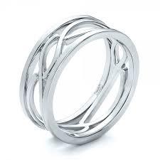 filigree wedding band custom men s platinum filigree wedding band 100654