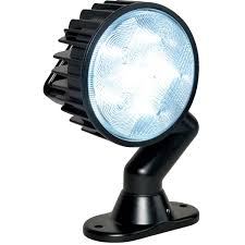 black pedestal led flood light 5 dia lens aw direct
