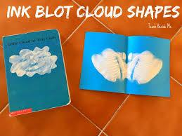 ink blot cloud shapes craft for little cloud book teach beside me