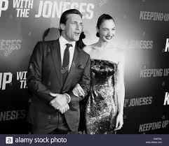 Keeping Up With The Joneses Jon Hamm And Gal Gadot At The Los Angeles Premiere Of U0027keeping Up