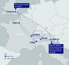 Italy Train Map Venice Via The Alps