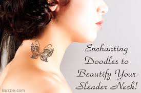 gorgeous neck tattoos for girls that you u0027ll simply love to flaunt
