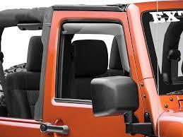 weathertech jeep wrangler weathertech wrangler front side window deflectors smoke
