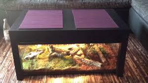 Wohnzimmertisch Aquarium Terrarien Tisch Youtube