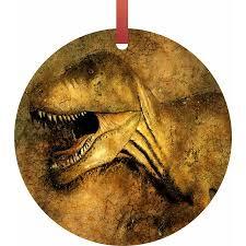 dinosaur tm flat shaped sided aluminum hanging