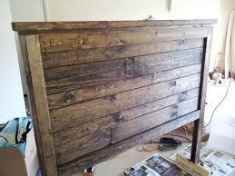 fancy barn board headboard diy reclaimed barn door headboard bob