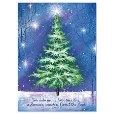 winter tree christmas cards current catalog