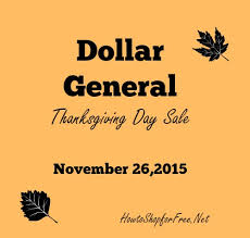 dollar general thanksgiving day sale how to shop for free with