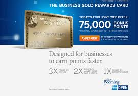 Credit Card Signs For Businesses The Business Gold Rewards Card From Amex 75 000 Mr Points Today