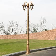 Villa Park Landscape by European High Pole Lights Outdoor Garden Waterproof Cell Headed