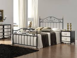 Steel Bedroom Furniture Bedroom The Wrought Metal Bed Frame To Improve Your Decoration For