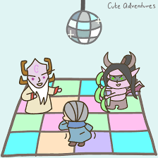 inspired to make this after the auction house dance party gif on