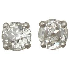 big diamond earrings antique and contemporary 0 57 carat diamond and platinum stud