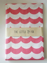 stokke sleepi pink waves fitted cot crib sheet the little fox
