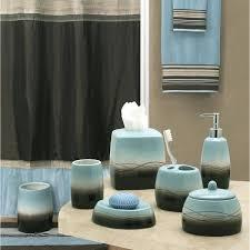bathroom alluring brown and blue bathroom accessories peacock