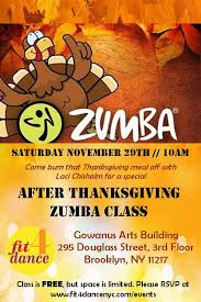 free after thanksgiving class registration required