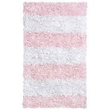 pink stripe shag rug and nursery necessities in interior design