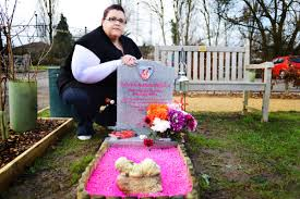 must remove colourful decorations from tot s grave oxford mail