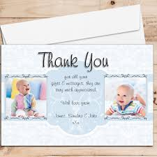 Baptism Card Invitation 10 Personalised Birth Christening Baptism Thank You Photo Cards N208