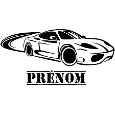 stickers pour chambre ado sticker prénom personnalisé voiture u2013 chambre ado garçon