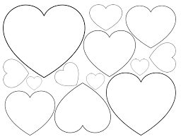 printable heart shapes tiny small u0026 medium outlines heart