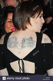 new york ny usa 5th jan 2015 lena dunham tattoo at arrivals