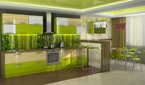 beautiful lime green kitchen design displaying modern contemporary