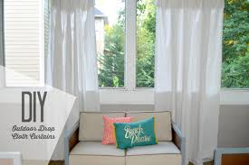 diy outdoor drop cloth curtains baby shopaholic