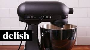 kitchenaid matte black mixer delish youtube