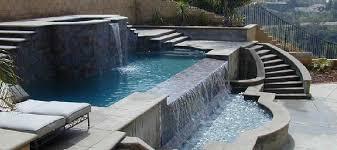 Backyard Pool With Slide - pool concepts inc