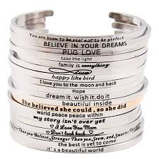 fashion stainless steel bracelet images 2017 fashion stainless steel engraved positive inspirational jpg