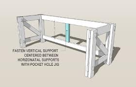 Diy Desk Plan Computer Desk Blueprints Custom Computer Desk Plans