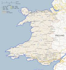 where is wales on the map map of wales