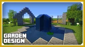 minecraft how to build a garden design tutorial easy survival