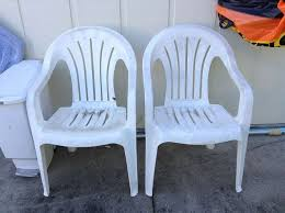 Outdoor Furniture Plastic Chairs by Repurposed White Plastic Chairs To Painted Pool Chairs Hometalk