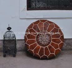 Leather Moroccan Ottoman by Moroccan Ottoman Ottomans Genuine Leather Pouf Moroccan Ottoman