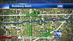 Cta Blue Line Map Group Of Teen Robbers Attack Cta Blue Line Riders On West Side