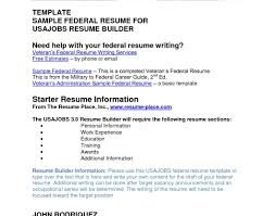 Usajobs Builder Resume Cv For Usa Jobs Ideas Examples Of Resumes Resume Sample For Job