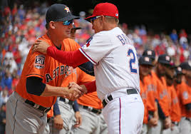 Todd Banister Texas Rangers Astros Manager A J Hinch Talks Near Fight With